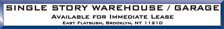 Brooklyn warehouse  Space Real Estate Listing